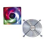 Evercool Ventilateur de boîtier 120mm - 3 Couleurs + Grille de ventilateur 120mm