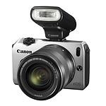 Canon EOS M Argent + Objectif EF-M 18-55 mm f/3,5-5,6 IS STM + Speedlite 90EX