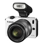 Canon EOS M Blanc + Objectif EF-M 18-55 mm f/3,5-5,6 IS STM + Speedlite 90EX