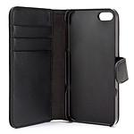 xqisit Etui Wallet Noir Apple iPhone 5
