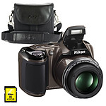 Nikon Coolpix L810 Gris + Nikon CS-P08 + Carte SDHC 4 Go