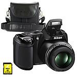 Nikon Coolpix L810 Noir + Nikon CS-P08 + Carte SDHC 4 Go