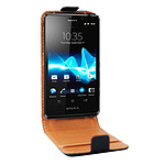 Swiss Charger Etui Cuir Flip pour Sony Xperia T