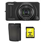Nikon Coolpix S9200 Noir + Etui + Nikon SD 4 Go