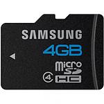 Samsung microSDHC 4 Go Noir