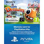 Sony Carte mémoire 16 Go + Little Deviants (PS Vita)
