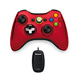 Microsoft Wireless Controller Chrome Series Rouge + Wireless Gaming Receiver (PC / Xbox 360)
