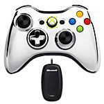 Microsoft Wireless Controller Chrome Series Argent + Wireless Gaming Receiver (PC / Xbox 360)