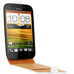 Swiss Charger Etui Cuir Flip Blanc pour HTC One SV