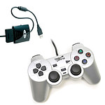 Under Control Shockcontroller Gris + Convertisseur de manette (PS2 / PS3)