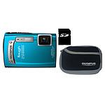Olympus TG-320 Bleu + Etui + Carte SD 8 Go