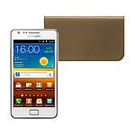 Samsung Galaxy S2 GT-i9100 Blanc + Etui en cuir