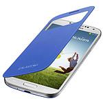 Samsung EF-CI950B - Etui S-View Bleu pour Galaxy S4