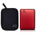 Western Digital My Passport 500 Go Rouge + My Passport Carrying Case (USB 3.0)