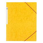 Elba Chemise à élastiques 24 x 32 cm  3 rabats 390 g Jaune