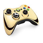 Microsoft Wireless Controller Chrome Series Or (Xbox 360)