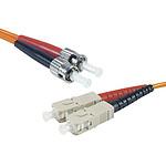 Câble fibre optique multimode OM1 62.5/125 ST/SC (2 mètres)