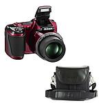 Nikon Coolpix L820 Rouge avec étui Nikon CS-P08