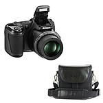 Nikon Coolpix L820 Noir avec étui Nikon CS-P08