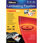 Fellowes Pochettes brillantes A6 125µ x 100
