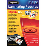 Fellowes Papel fotográfico brillo 65x95 mm 125µ x 100