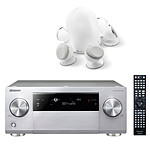 Pioneer SC-2023 Argent  + Focal Dome 5.1 White