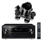 Pioneer SC-1223  Noir  + Focal Dome 5.1 Black
