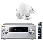 Pioneer SC-1223 Silver  + Focal Dome 5.1 White
