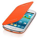 Samsung EFC-1M7FOEG - Etui Flip Case Orange pour Galaxy SIII Mini