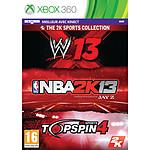 NBA 2K13 + WWE 13 + Top Spin 4 (Xbox 360)