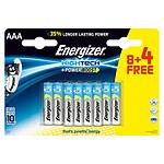 Energizer High Tech PowerBoost 8 piles AAA LR03 + 4 gratuites