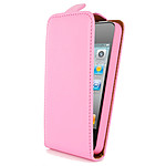Swiss Charger Etui Cuir Flip Rose pour iPhone 4/4S