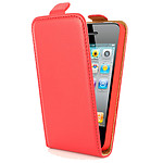 Swiss Charger Etui Cuir Flip Rouge pour iPhone 4/4S