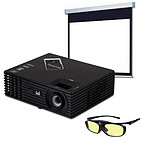 ViewSonic PJD7820HD + PGD350 + LDLC Ecran manuel - Format 16:9 - 240 x 135 cm