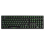 Ducky Channel Shine 3 (MX Red - LEDs Vertes)