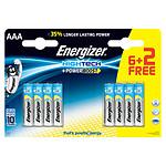 Energizer High Tech 6 piles AAA LR03 + 2 gratuites