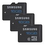 Samsung microSDHC 16 Go *2 + 1 pour 1€ de plus