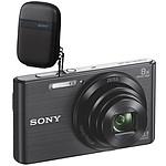 Sony DSC-W830 Pack noir : étui + carte SD 4 GO