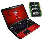 """MSI GT70 2OD-820FR """"Dragon Edition 2"""" + MSI Controlleur Super Raid 2 + 720 Go  SSD (3x Crucial M500 mSATA 240 Go)"""