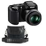 Nikon Coolpix L330 Noir + Nikon CS-P08 Noir