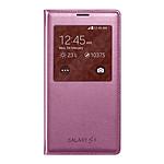 Samsung EF-CG900BP - Etui S-View Rose pour Galaxy S5