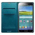 Samsung EF-WG900BG - Etui Flip Wallet Bleu Menthe pour Galaxy S5