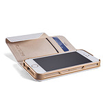Element Case Soft-Tec Wallet Blanc/Or iPhone 5/5s