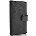 xqisit Etui Wallet Case Noir iPhone 4/4S