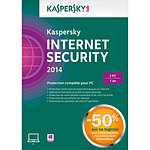 Kaspersky Internet Security 2014 AD* - Licence 3 postes 1 an (français, WINDOWS)