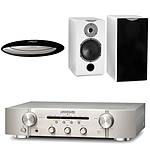 Marantz PM6005 Silver/Gold + Cabasse Antigua MT31 Laquée Blanche + Cabasse Stream Source
