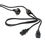 Doble cable de alimentación para PC/Monitor/Ondulador (3 m)