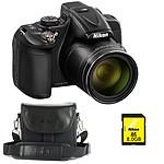 Nikon Coolpix P600 Noir + Nikon CS-P08 Noir + Nikon Carte SDHC 8 Go