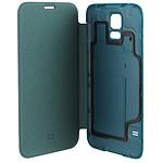 xqisit Etui Flip Batterycase Bleu pour Galaxy S5
