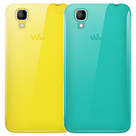 Wiko lot de 2 coques jaune et turquoise Wiko Sunset